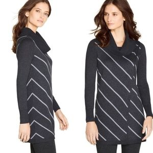 WHBM Striped Cowl Neck Tunic Sweater Size M